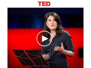 TEDで「恥辱の代償」をプレゼンするモニカ・ルインスキー